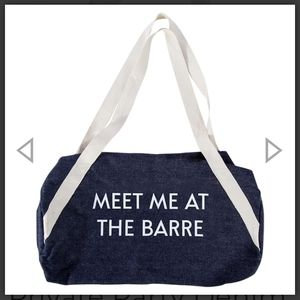 Private Party Denim Gym Bag